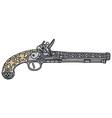 Historical pistol vector image vector image