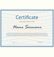 horizontal certificate with pattern vector image vector image