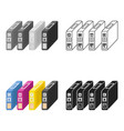 ink cartridges in cartoon style isolated on white vector image vector image