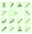 ink icons vector image vector image