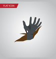 isolated corpse hand flat icon zombie vector image