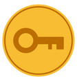 key gold coin vector image