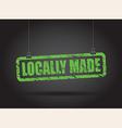 locally made green vector image
