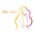 logo for hairdressing and beauty salon a young