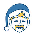 man with christmas hat vector image vector image