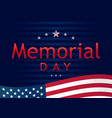 memorial day remember and honor navy blue vector image vector image