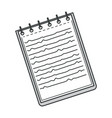 notebook with spiral binder notepad for tasks vector image
