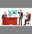 old office worker face emotions various vector image vector image