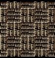 ornate textured 3d greek key meanders seamless vector image vector image