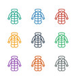 overcoat icon white background vector image vector image