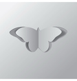 Paper butterfly2 vector image vector image