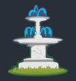 part from set of outdoors fountain for gardening vector image
