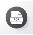 pdf icon symbol premium quality isolated paper vector image vector image
