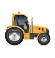 realistic tractor side view vector image vector image