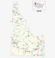 road map us american state idaho vector image vector image