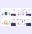 save money to buy future landing page set vector image vector image