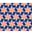 Seamless Blue Pink Navy Hexagonal Triangles vector image vector image