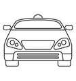 smart modern car icon outline style vector image vector image