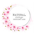 spring background with a pink blooming sakura vector image vector image