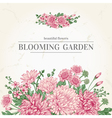 summer card with garden flowers in vintage vector image