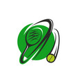 tennis ball and racket icon for sport club design vector image vector image
