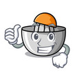 thumbs up juicer character cartoon style vector image vector image