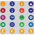 Tourist icons Flat design vector image