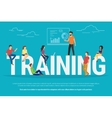 Training concept vector image vector image