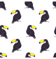 tropical seamless pattern with toucans exotic vector image vector image