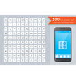 UI Linear Icons Set with Smart Phone vector image