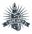 Vape shop logo vector image
