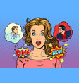 woman angel and demon choices vector image vector image