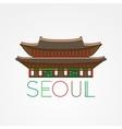 world famous gwanghwamun palace greatest vector image vector image