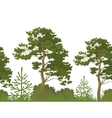 Seamless background summer forest vector image