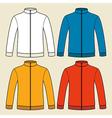 Colorful sweatshirts template vector image