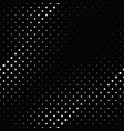 abstract black and white geometrical dot pattern vector image vector image