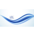 abstract blue line wave background vector image vector image