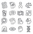 aging alzheimer disease icons set outline style vector image vector image