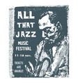 all that jazz music festival for t shist design vector image vector image