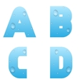 Alphabet with water drops vector image vector image