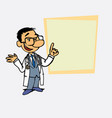 asian doctor relaxed speak content is showing as vector image