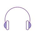 audio earphones isolated icon vector image
