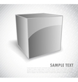 Background with silver cube vector image vector image