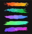 bannersheaderscollection of colorful paint vector image vector image