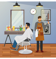 Barber Shop Flat Design vector image vector image