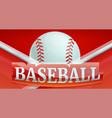 baseball fire sport concept banner cartoon style vector image vector image