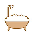bathtub service isolated icon vector image vector image