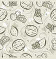 Beige seamless patterns with almond hazelnut and