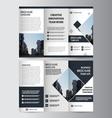 Black elegance business trifold Leaflet Brochure vector image vector image