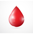 Blood Drop Isolated on White Background vector image vector image